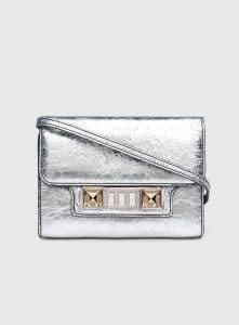 Proenza Schouler Silver PS11 Wallet On A Strap Bag