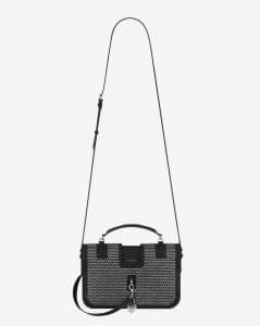 Saint Laurent Black Medium Charlotte Studded Messenger Bag