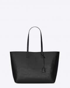 Saint Laurent Black Patent Large Shopping Tote Bag