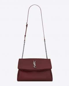 Saint Laurent Dark Red Medium West Hollywood Bag