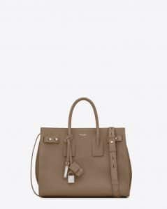 Saint Laurent Taupe Small Sac De Jour Souple Bag