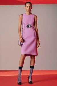 Bottega Veneta Pink Intrecciato Shoulder Bag - Resort 2018