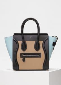 Celine Beige Bullhide Calfskin Micro Luggage Bag