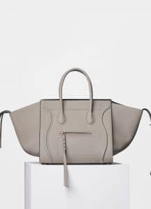Celine Beige Supple Calfskin Medium Luggage Phantom Bag