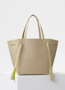 Celine Beige/Yellow Small Cabas Phantom Bag