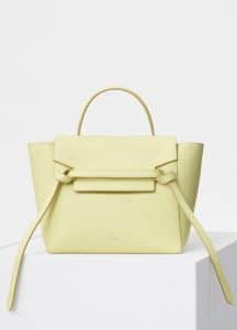 Celine Bergamote Grained Calfskin Micro Belt Bag