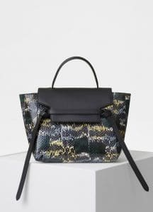 Celine Bergamote Painted Watersnake Micro Belt Bag