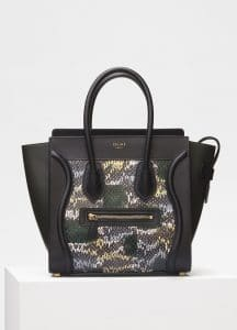Celine Bergamote Painted Watersnake Micro Luggage Bag