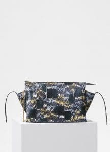 Celine Bergamote Painted Watersnake Tri-Fold Clutch on Chain Bag