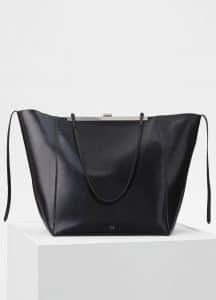 Celine Black Cabas Clasp Bag