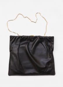 Celine Black Medium Ruched Bag