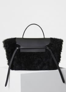 Celine Black Shearling Mini Belt Bag