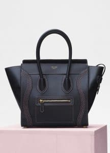 Celine Black Shiny Smooth Calfskin Micro Luggage Bag