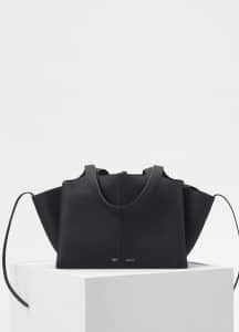 Celine Black Small Tri-Fold Bag