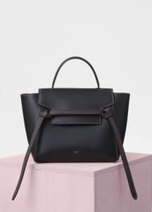 Celine Black Smooth Calfskin Micro Belt Bag