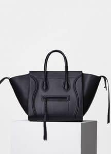 Celine Black Supple Calfskin Medium Luggage Phantom Bag