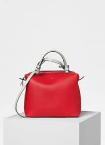 Celine Bright Red Small Soft Cube Bag