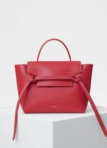 Celine Bright Red Smooth Calfskin Micro Belt Bag