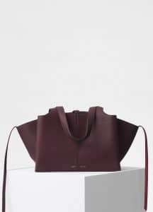 Celine Burgundy Small Tri-Fold Bag