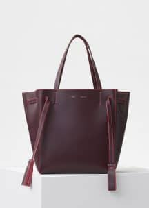 Celine Burgundy/Pink Small Cabas Phantom Bag
