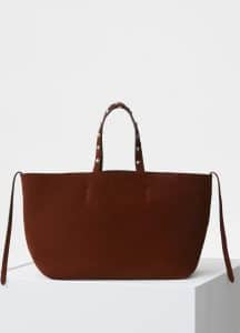 Celine Chocolate Suede Small Soft Cabas Phantom Bag