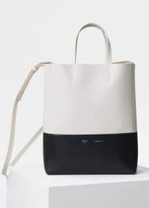 Celine Cream/Black Small Cabas Bag