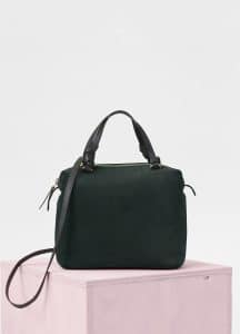 Celine Dark Green Suede Small Soft Cube Bag