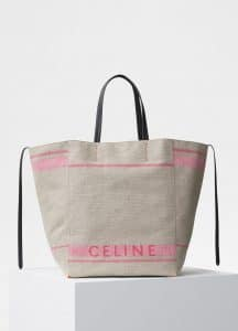 Celine Dark Pink Canvas Large Cabas Phantom Bag