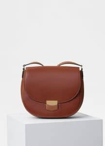 Celine Havana Natural Calfskin Medium Trotteur Bag