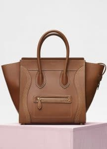 Celine Havana Natural Calfskin Mini Luggage Bag