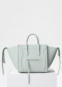 Celine Jade Baby Grained Calfskin Medium Luggage Phantom Bag