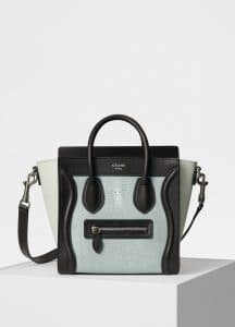 Celine Jade Shagreen Nano Luggage Bag