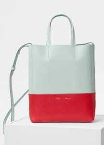 Celine Jade/Bright Red Small Cabas Bag