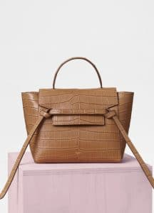 Celine Light Tan Matte Crocodile Micro Belt Bag