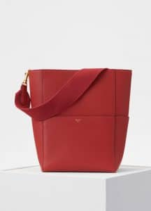 Celine Merlot Seau Sangle Bag
