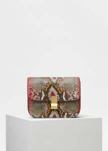 Celine Multicolor Painted Python Medium Classic Box Bag