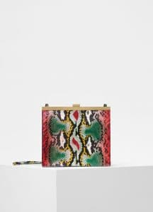 Celine Multicolour Painted Python Mini Clasp Bag