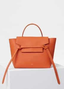 Celine Orange Grained Calfskin Micro Belt Bag