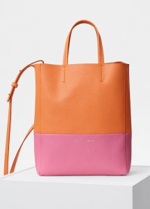 Celine Orange/Flamingo Small Cabas Bag