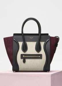 Celine Plum Felt Micro Luggage Bag