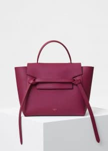 Celine Plum Grained Calfskin Micro Belt Bag