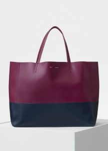 Celine Plum/Steel Blue Horizontal Cabas Bag