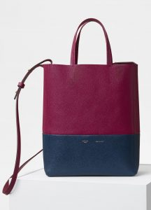 Celine Plum/Steel Blue Small Cabas Bag