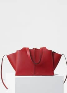 Celine Red Small Tri-Fold Bag