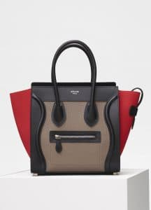 Celine Souris Bullhide Calfskin Micro Luggage Bag