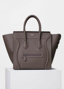 Celine Souris Drummed Calfskin Mini Luggage Bag