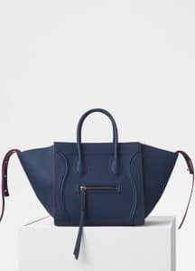 Celine Steel Blue Baby Grained Calfskin Medium Luggage Phantom Bag