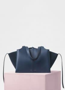 Celine Steel Blue Small Tri-Fold Bag