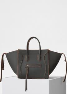 Celine Stone Baby Grained Calfskin Medium Luggage Phantom Bag
