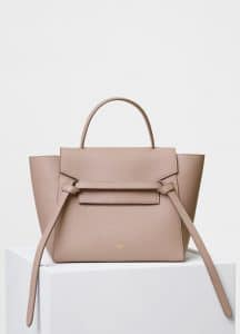 Celine Taupe Grained Calfskin Micro Belt Bag